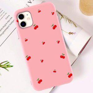 SHEIN Pink Cherries Print IPhone XR Case